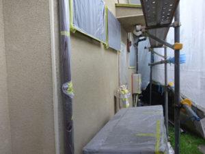 ❐外壁塗装のための各所養生(マスキング)